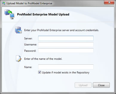 ProModel Enterprise Upload