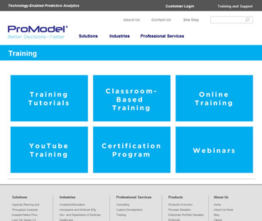 ProModel Training Page